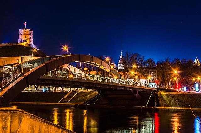 Baidares Vilnius Neris naktį gražiau
